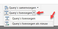 Power BI Query toevoegen